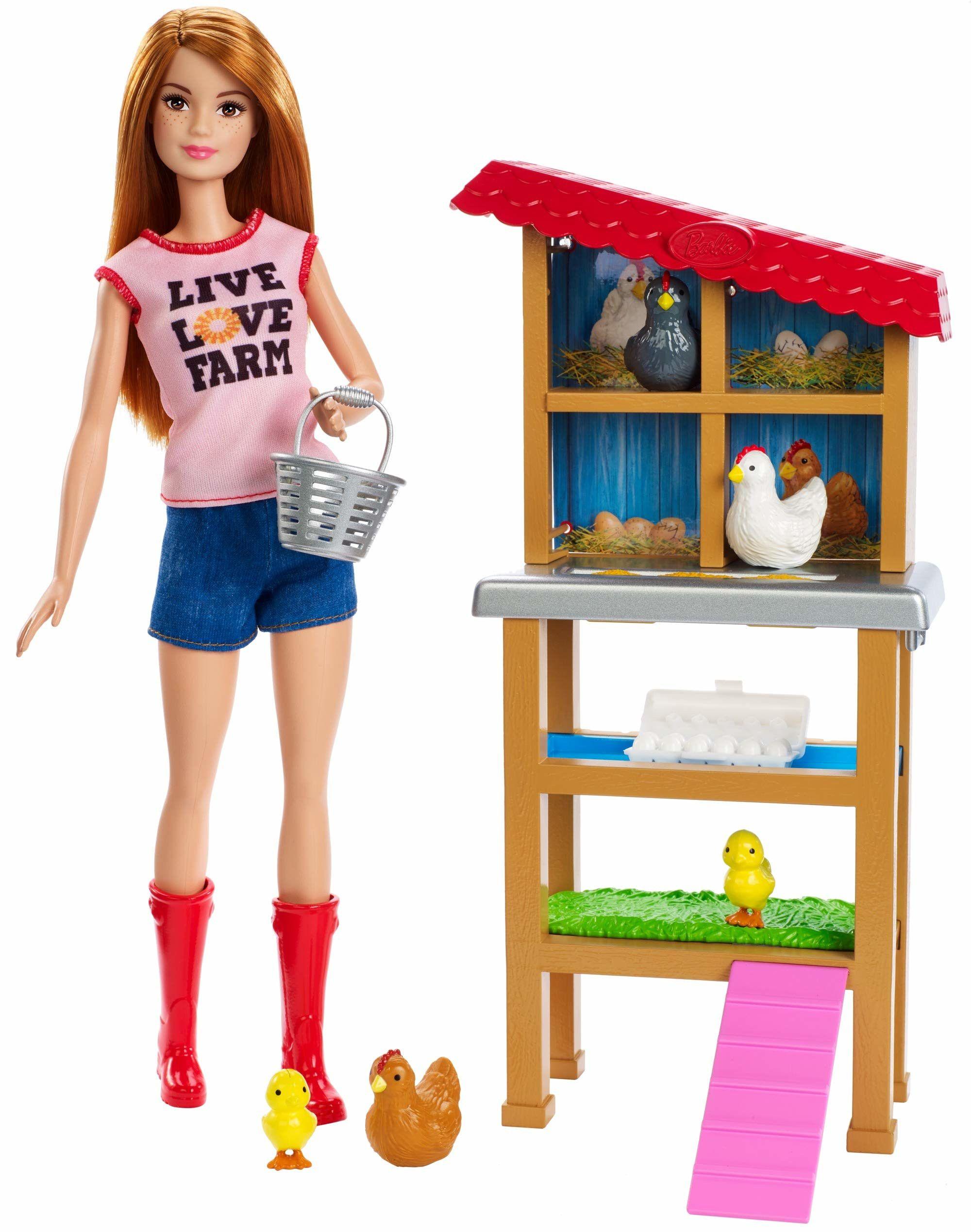Игрален комплект Mattel Barbie - Фермерка - 1
