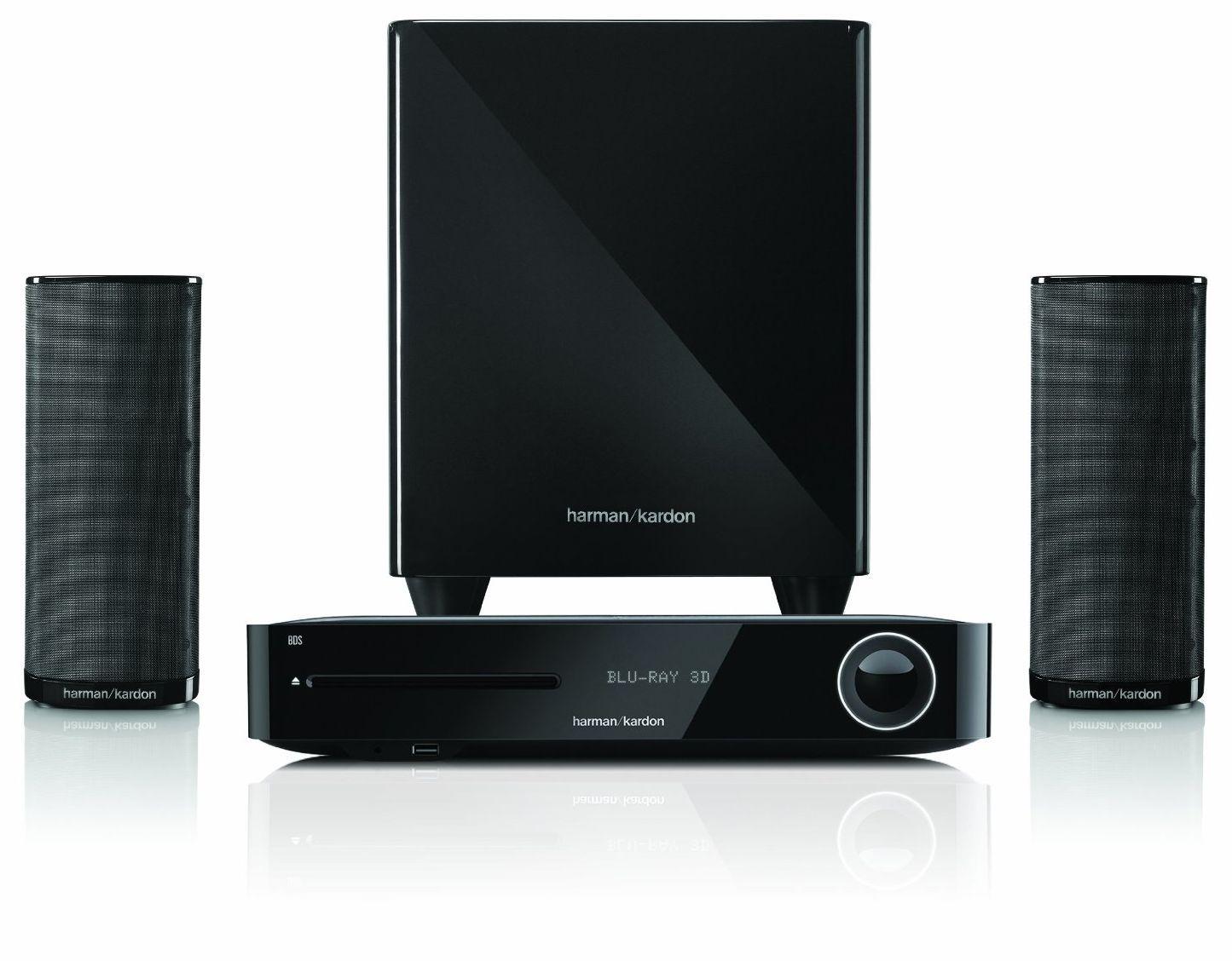 Система за домашно кино harman/kardon BDS 385S - 2.1, черна и Blu-Ray система - 3