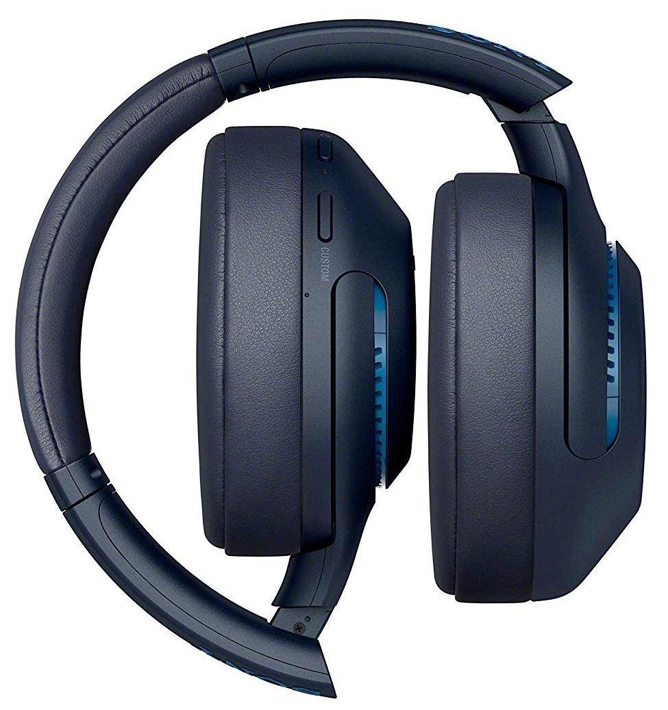 Безжични слушалки с микрофон Sony - WH-XB900N, сини - 4