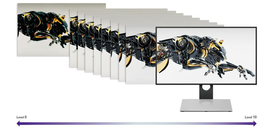 "BenQ PD2710QC, 27"" Wide IPS Ant-Glare, 5ms GTG, 1000:1, 20M:1 DCR, 350 cd/m2, 2560x1440 QHD, 100% sRGB, HDMI, DP, USB-C Docking, Height Adjustment, Pivot, Black&Silver - 11"