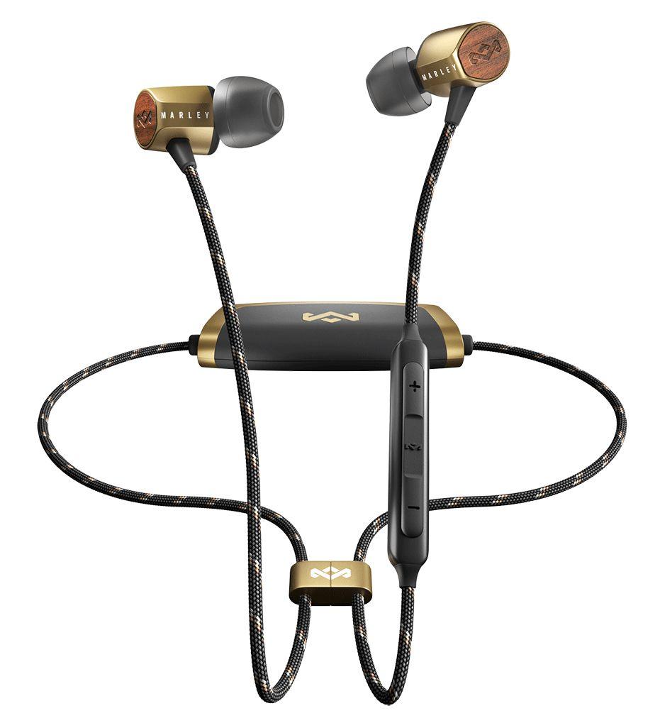 Безжични слушалки с микрофон House of Marley - Uplift 2, brass - 1