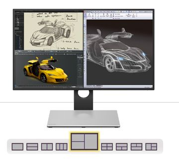 "BenQ PD2710QC, 27"" Wide IPS Ant-Glare, 5ms GTG, 1000:1, 20M:1 DCR, 350 cd/m2, 2560x1440 QHD, 100% sRGB, HDMI, DP, USB-C Docking, Height Adjustment, Pivot, Black&Silver - 9"