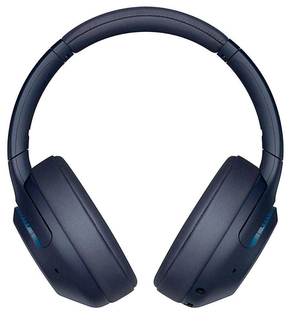 Безжични слушалки с микрофон Sony - WH-XB900N, сини - 1