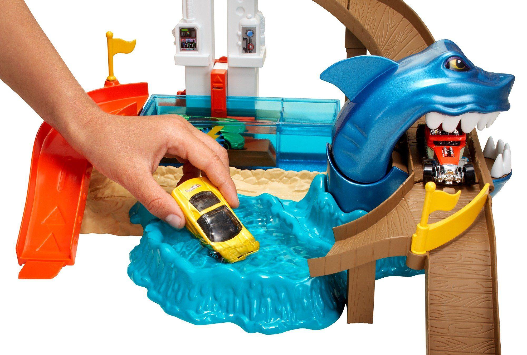 Комплект за игра Hot Wheels - Писта акула и колички с промяна на цвета - 3