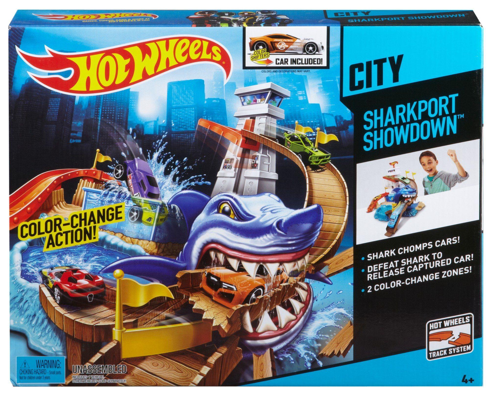 Комплект за игра Hot Wheels - Писта акула и колички с промяна на цвета - 1