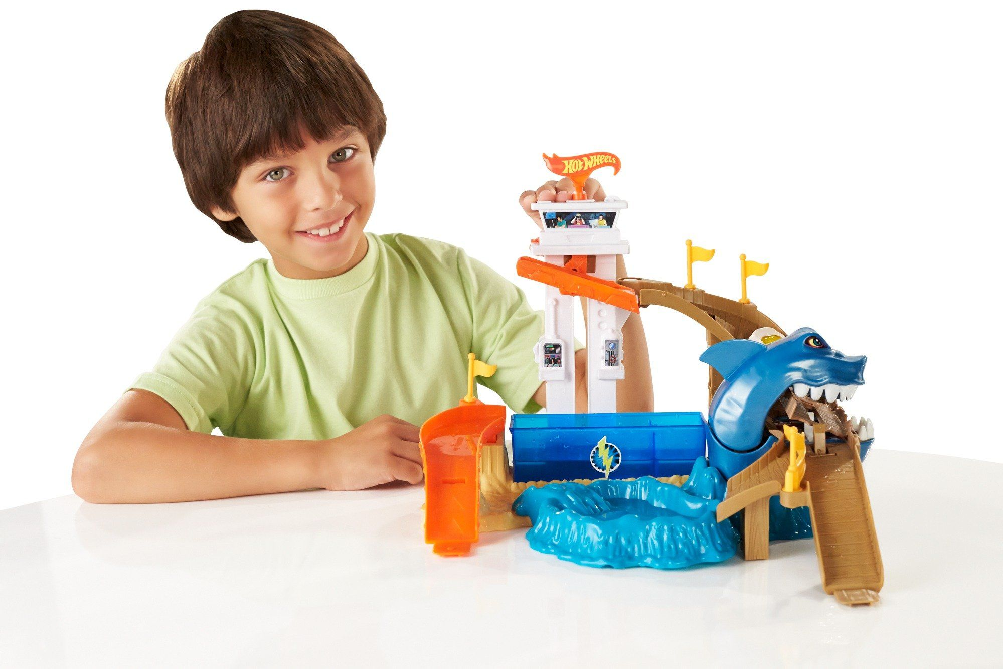 Комплект за игра Hot Wheels - Писта акула и колички с промяна на цвета - 6