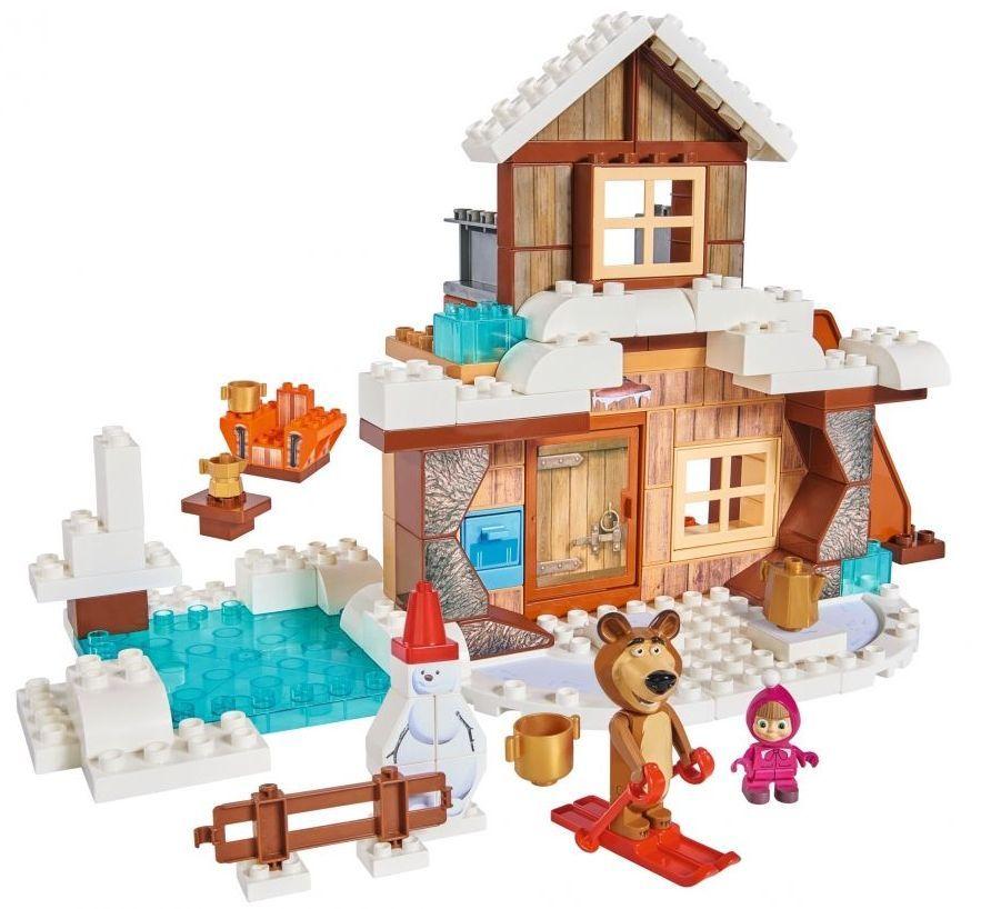 Конструктор BIG Маша и Мечока – Зимната къща на Мечока, 122 части - 2