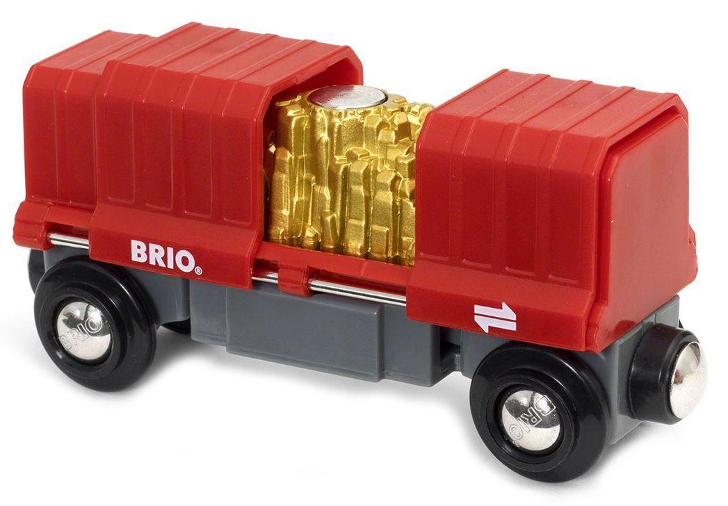 Играчка Brio World - Товарен вагон, със злато - 2