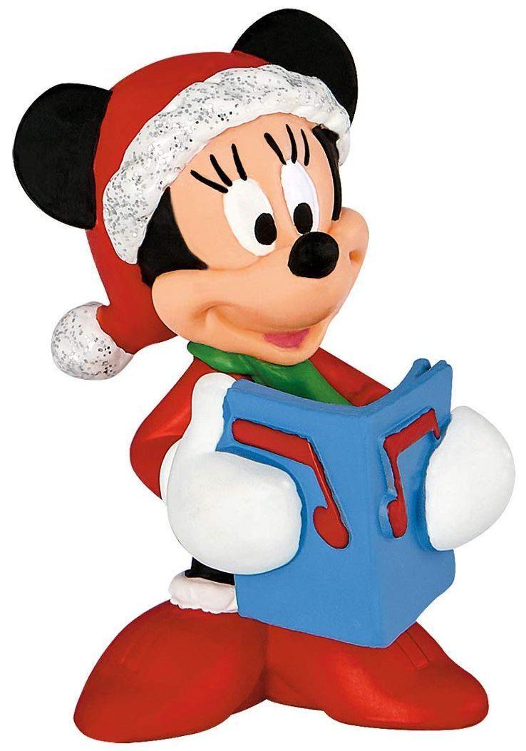 Фигурка Bullyland Mickey Mouse & Friends - Мини Маус, в коледен костюм - 1