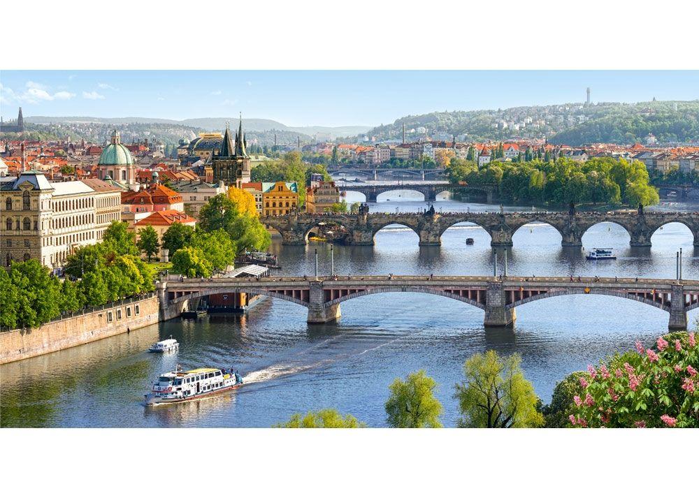Панорамен пъзел Castorland от 4000 части - Мостовете във Валтава, Прага - 2