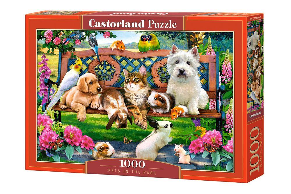 Пъзел Castorland от 1000 части - Домашни любимци в парка, Хауърд Робинсън - 1