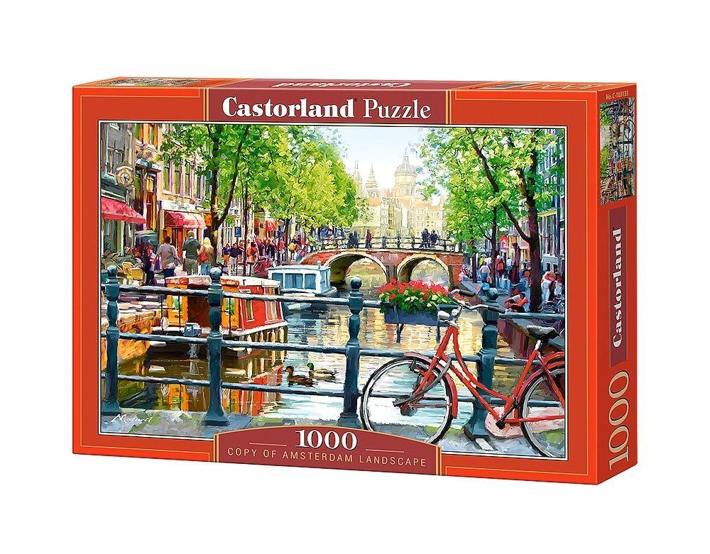 Пъзел Castorland от 1000 части - Пейзаж в Амстердам - 1