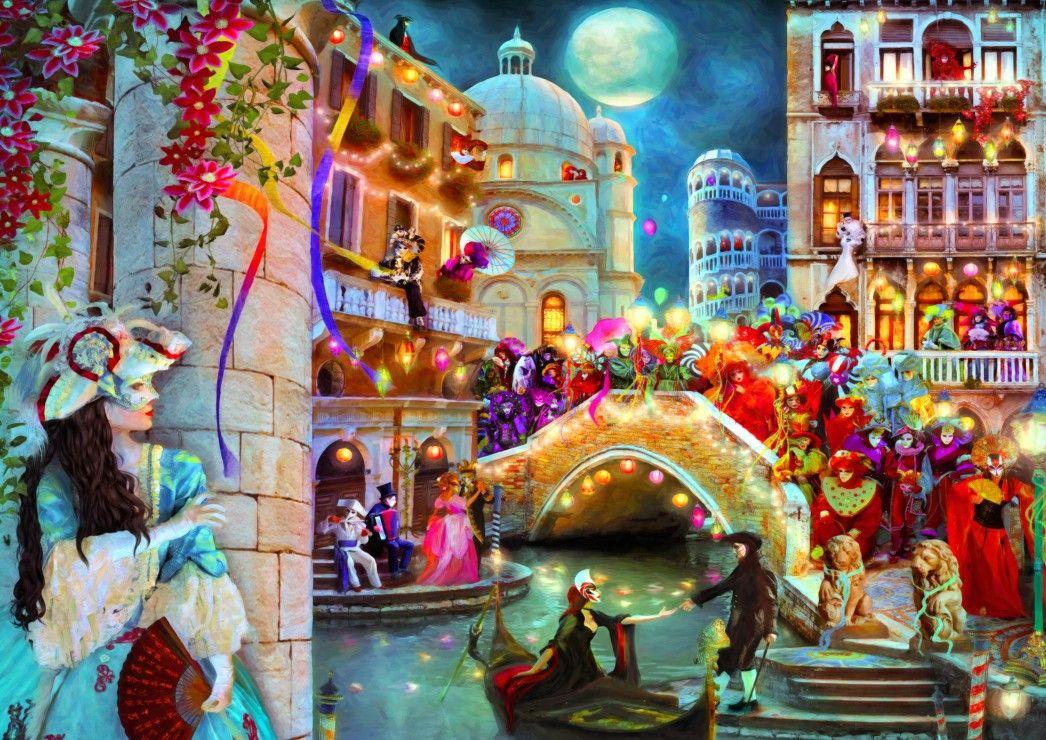 Пъзел Bluebird от 3000 части - Карнавал на лунна светлина - 1