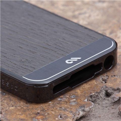Калъф CaseMate Wood Black Ash за iPhone 5 - 2