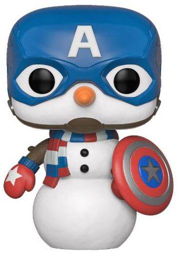 Фигура Funko Pop! Marvel: Holiday - Captain America - 1