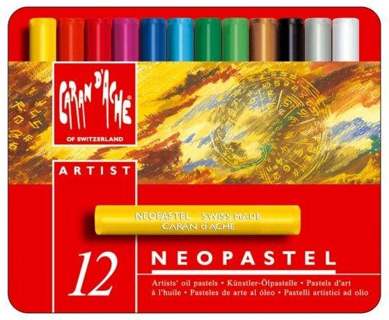 Цветни маслени пастели Caran d'Ache Neopastel – 12 цвята - 1