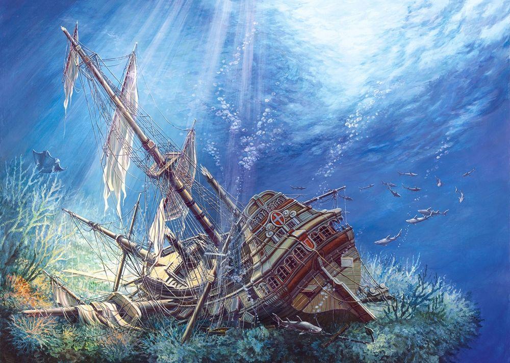 Пъзел Castorland от 2000 части - Потънал кораб - 2