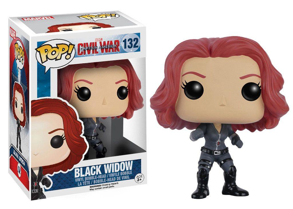 Фигура Funko Pop! Marvel: Captain America Civil War - Black Widow, #132 - 2