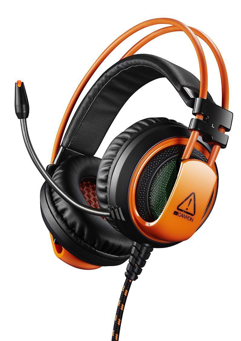 Гейминг слушалки CANYON CND-SGHS5 - 3.5мм жак + USB конектор за вибрация - 1