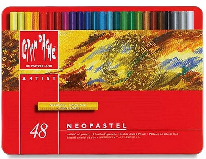 Цветни маслени пастели Caran d'Ache Neopastel – 48 цвята - 1