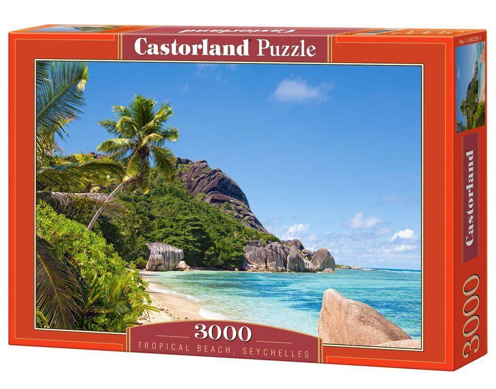 Пъзел Castorland от 3000 части - Тропически плаж, Сейшелите - 1