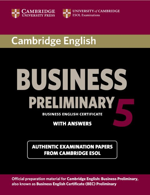 Cambridge English Business 5 Preliminary Student's Book with Answers - 1