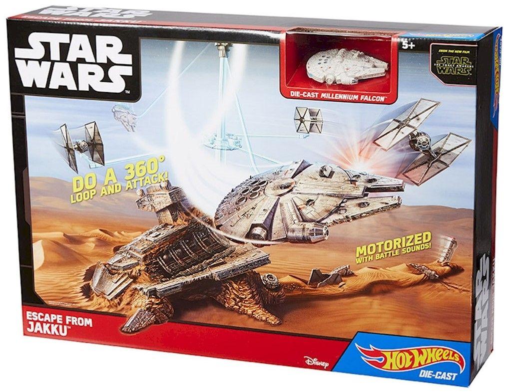 Игрален комплект Mattel Hot Wheels - Бягство от Джаку, Star Wars - 1