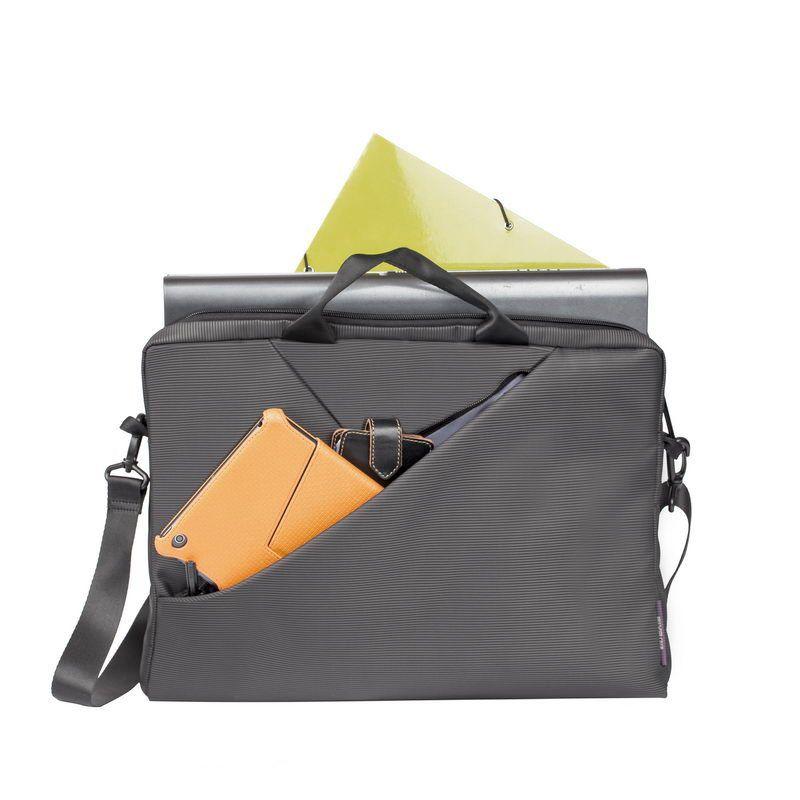 """Чанта за лаптоп Rivacase 8730 15.6"""" - сива - 9"""