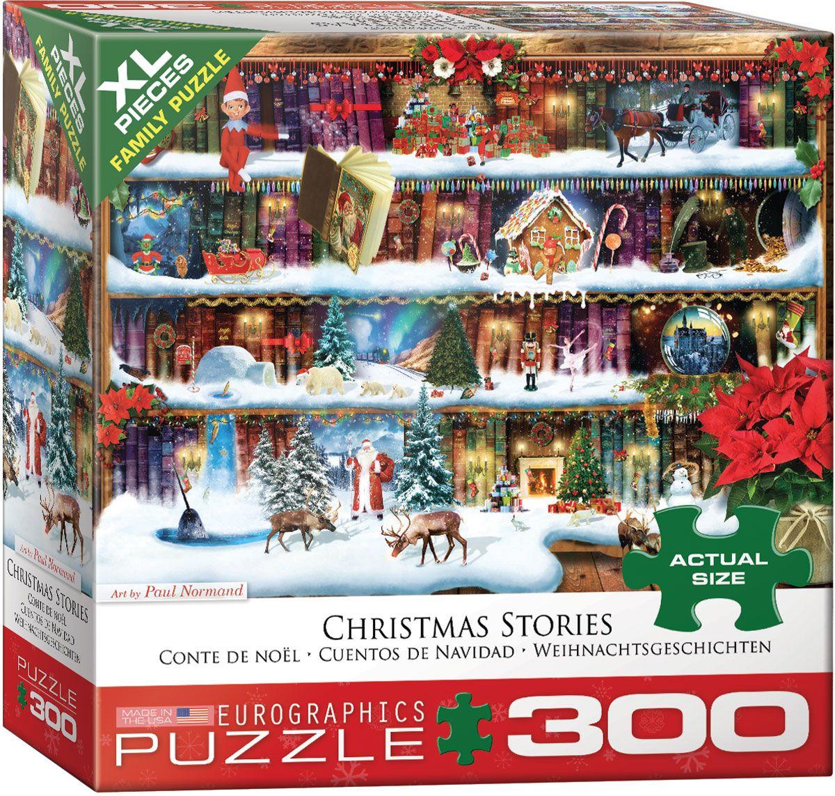 Пъзел Eurographics от 300 XL части - Коледни приказки, Пол Норман - 1