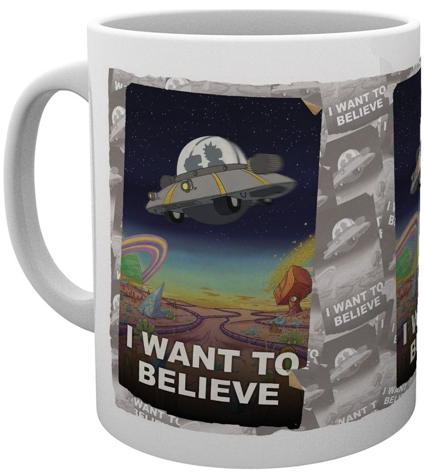 Чаша GB еye Rick and Morty - I Want To Believe, 300 ml - 1