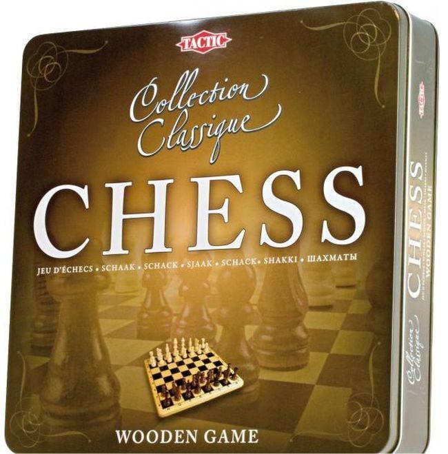 Класическа игра Tactic - Шах, в метална кутия - 1