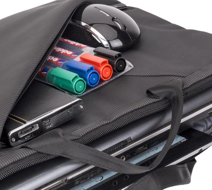 """Чанта за лаптоп Rivacase 8730 15.6"""" - сива - 8"""