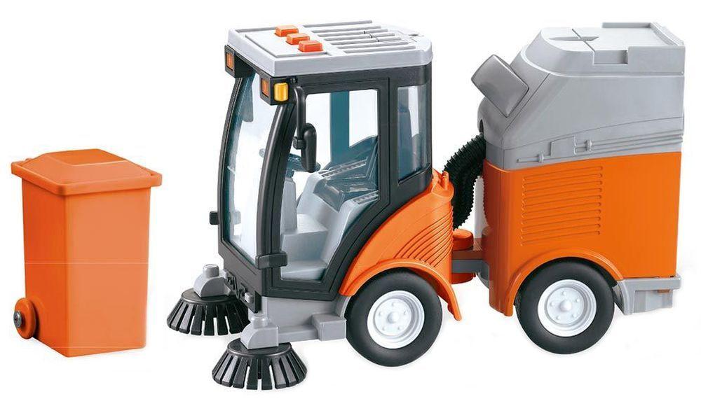 Детска играчка City Service - Машина за почистване на улиците, със звук и светлини - 1