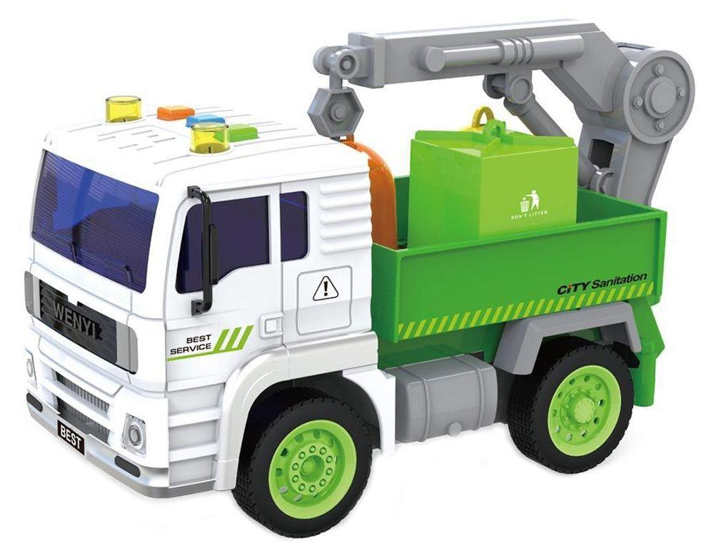 Детска играчка City Service - Боклукчийски камион, със звук и светлини, асортимент - 1