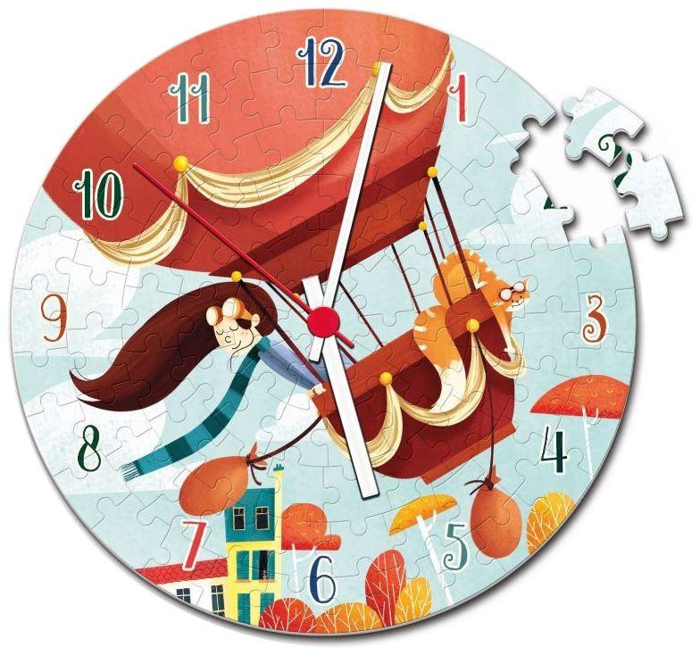 Пъзел-часовник Clementoni от 96 части - Балон, носен от вятъра, с механизъм - 2