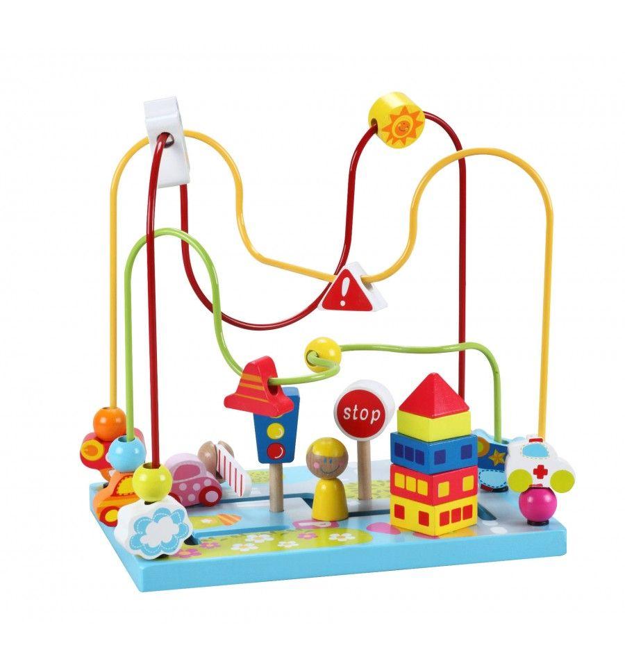 Дървена играчка за координация тип лабиринт Classic World - Улица - 1