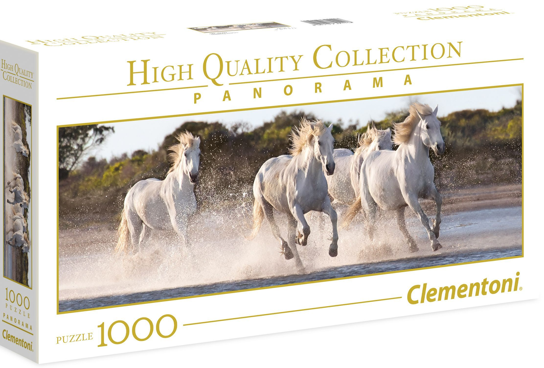 Панорамен пъзел Clementoni от 1000 части - Галопиращи коне - 1