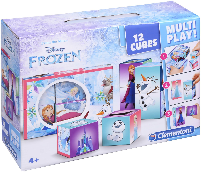 Кубчета за игра Clementoni - Замръзналото кралство, 12 броя - 1