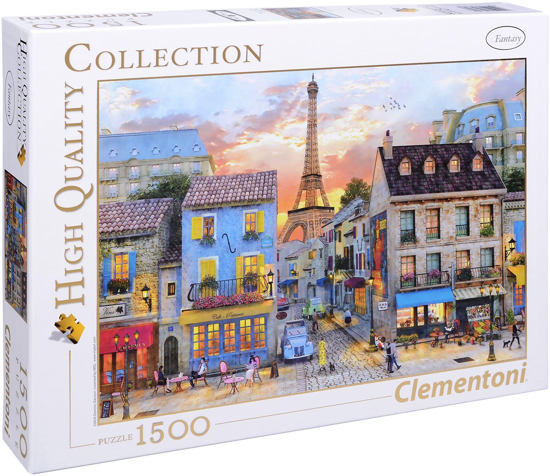 Пъзел Clementoni от 1500 части - Улиците на Париж, Доминик Дейвисън - 1