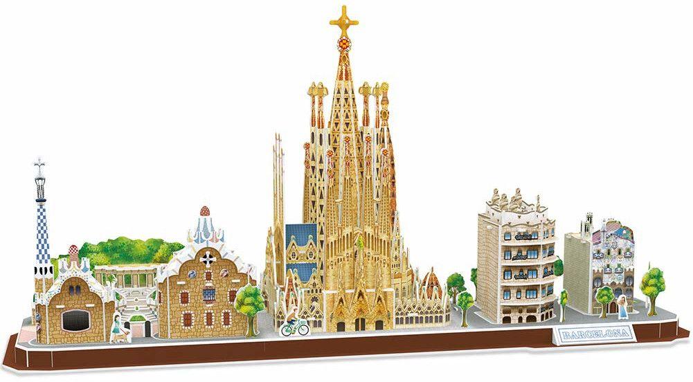 3D Пъзел Cubic Fun от 186 части - City Line Barcelona - 1