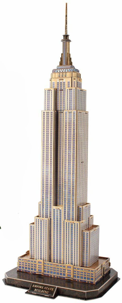 3D Пъзел Cubic Fun от 66 части - Empire State Building, New York - 1