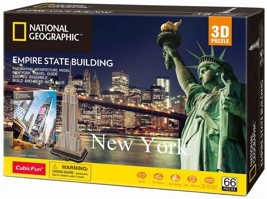 3D Пъзел Cubic Fun от 66 части - Empire State Building, New York - 2