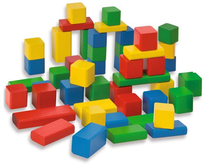 Цветни дървени блокчета Eichhorn - 1