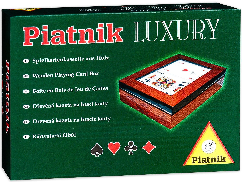 Луксозна дървена кутия с прозрачен капак Piatnik - 1