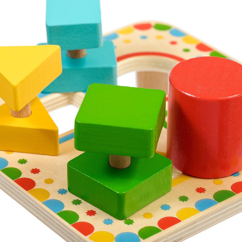 Дървена играчка Lucy&Leo - Сортер за форми - 5