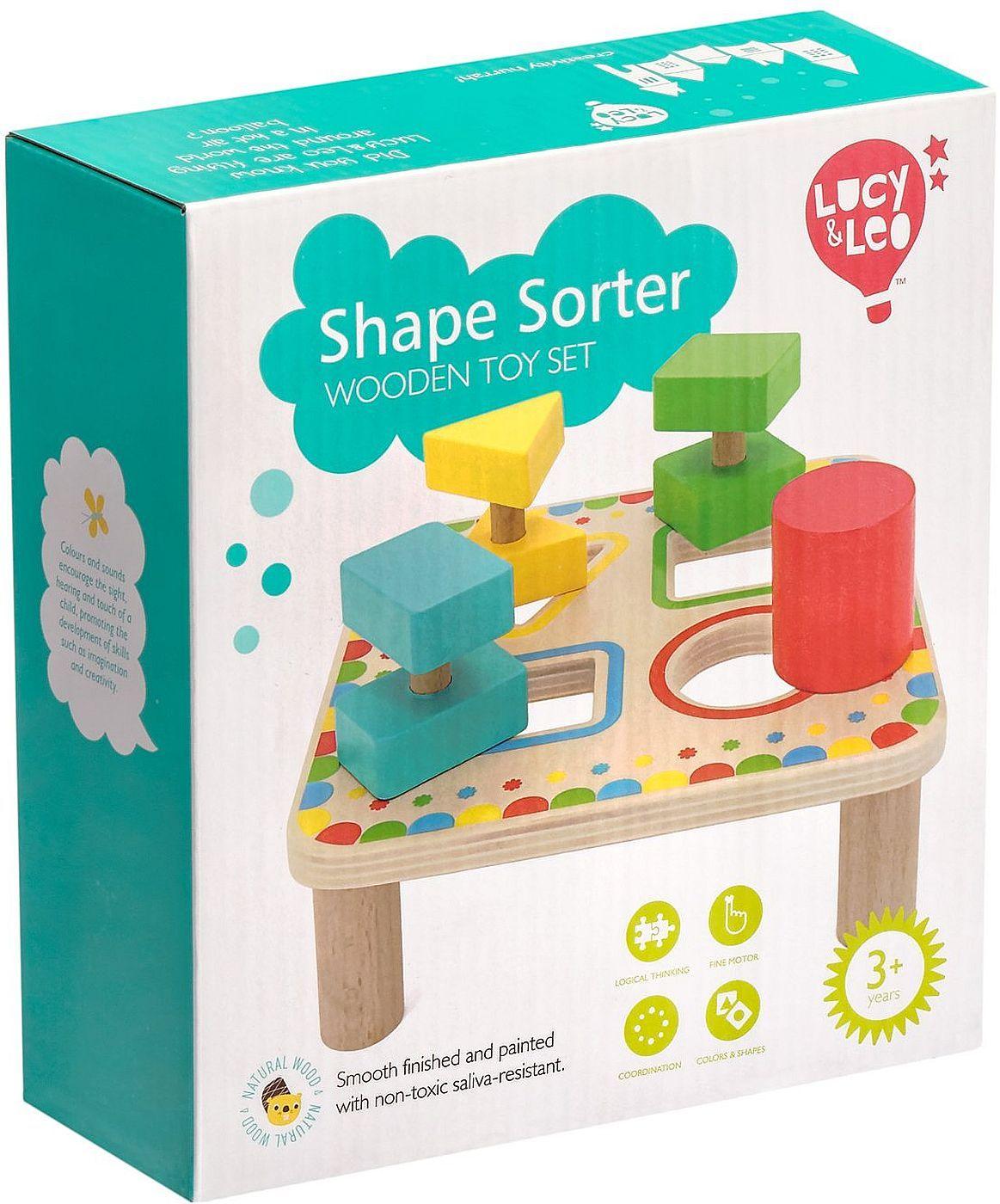 Дървена играчка Lucy&Leo - Сортер за форми - 7