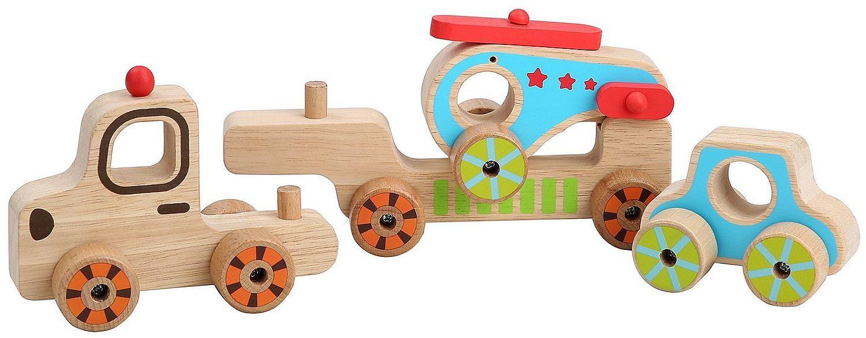Дървен автовоз Lucy&Leo - С количка и хеликоптер - 3