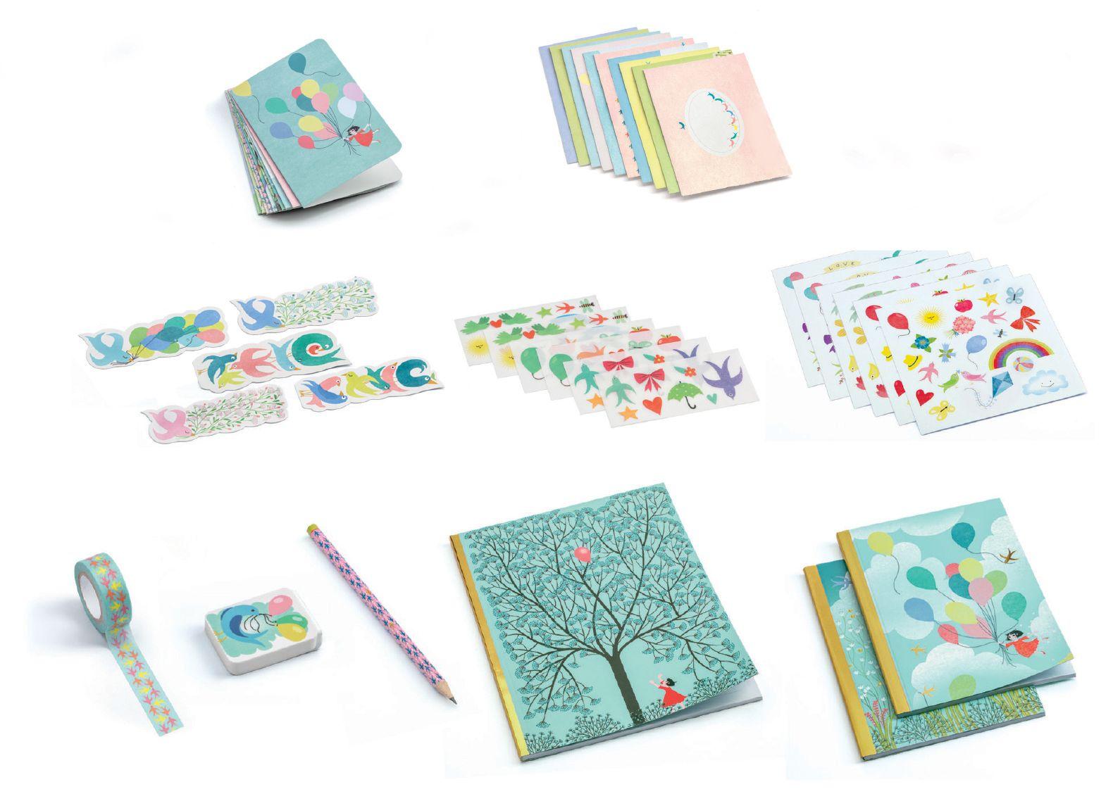 Творчески комплект Djeco - Charlotte, за картички, стикери и тетрадки - 2