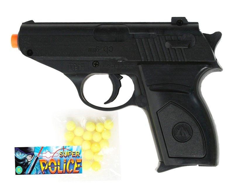 Детска играчка Airsoft - Механичен пистолет, 13 cm - 1