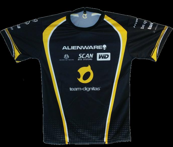 Тениска Dignitas Jersey, черна - 1